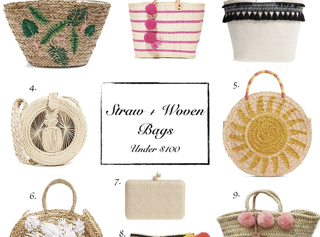 Favorite Finds | Straw + Woven Bags Under $100