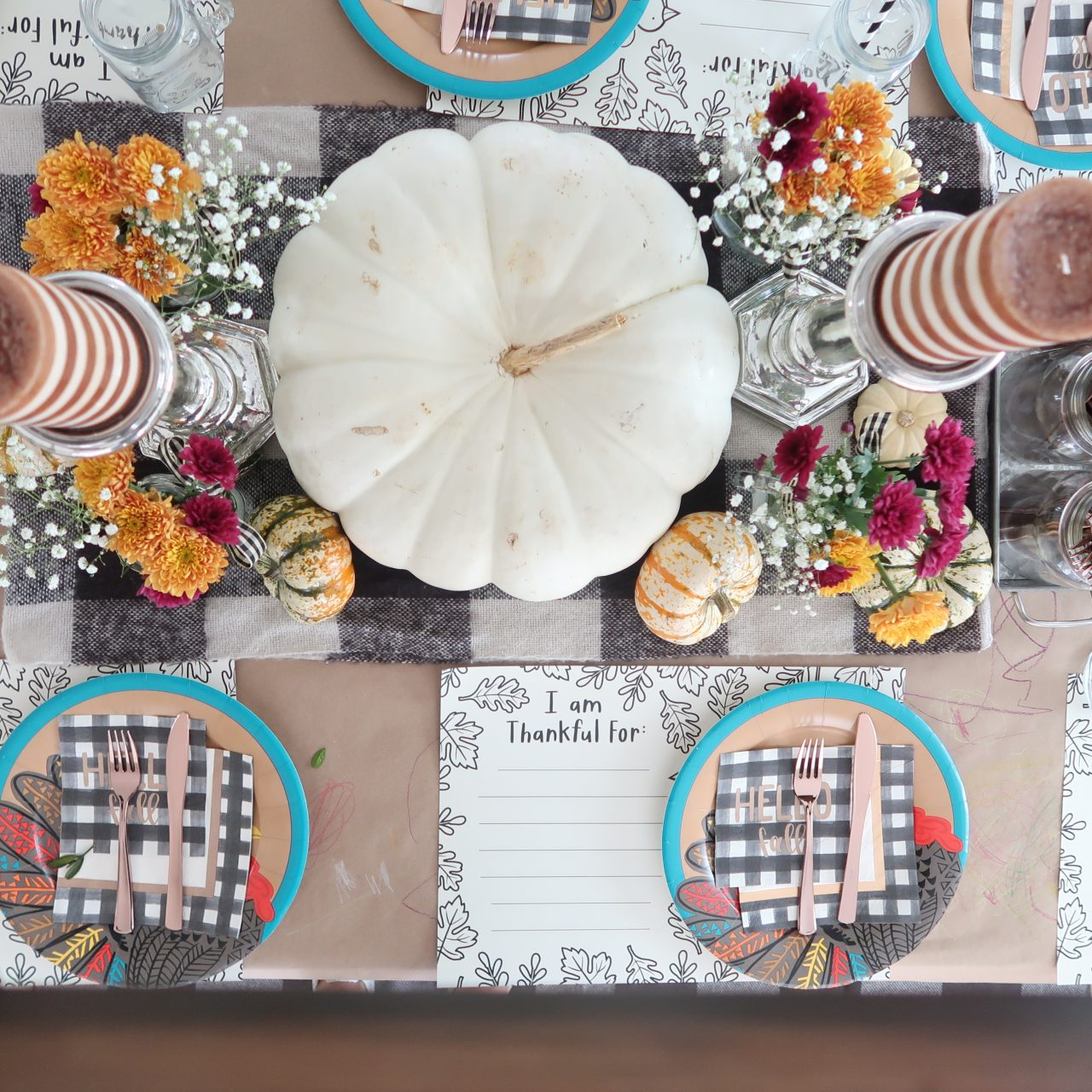Thanksgiving Tablescape | The Kids Table