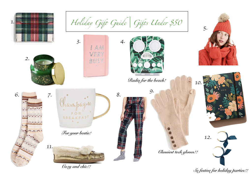 Holiday Gift Guide | Gifts Under $50 for the Gals
