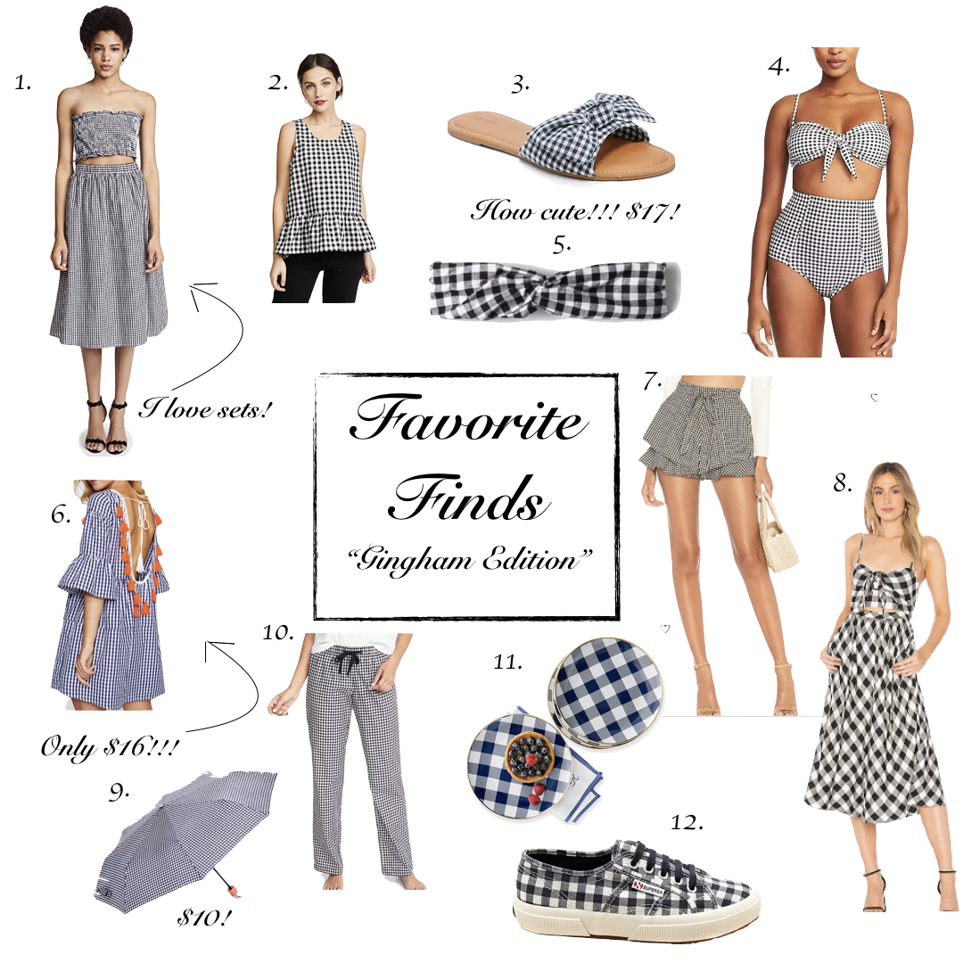 Favorite Finds || Gingham Edition